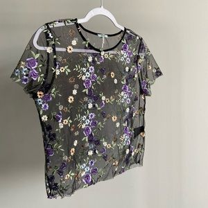 Embroidered Mesh Shirt
